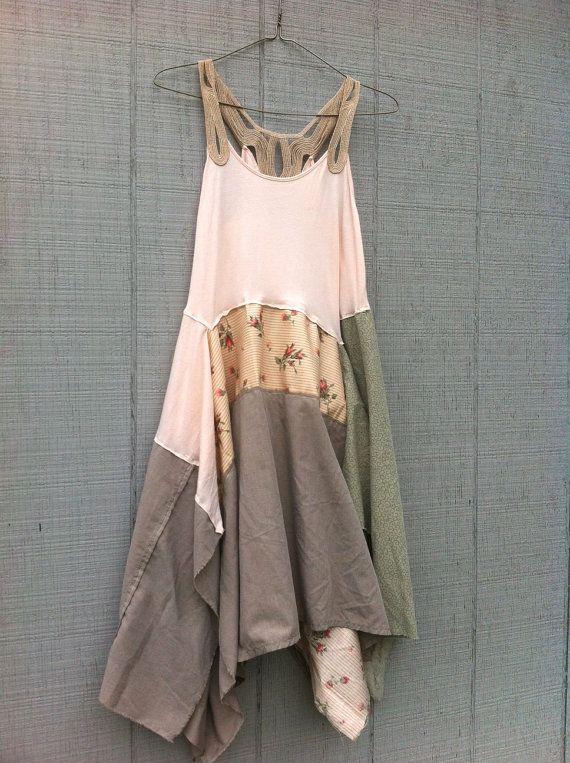 upcycled Dress / romantic Upcycled clothing / by CreoleSha on Etsy