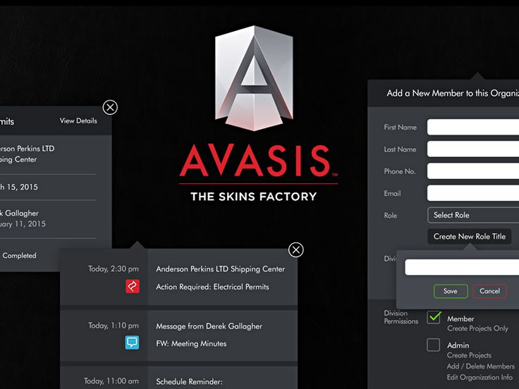 AVASIS: Modals + Drop Down Menus by The Skins Factory