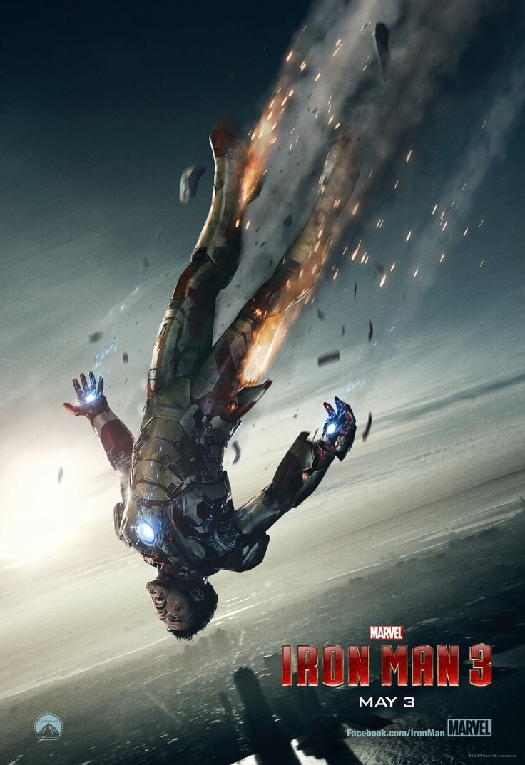 Tony Stark comes crashing to Earth in the brand new movie poster for Iron Man 3