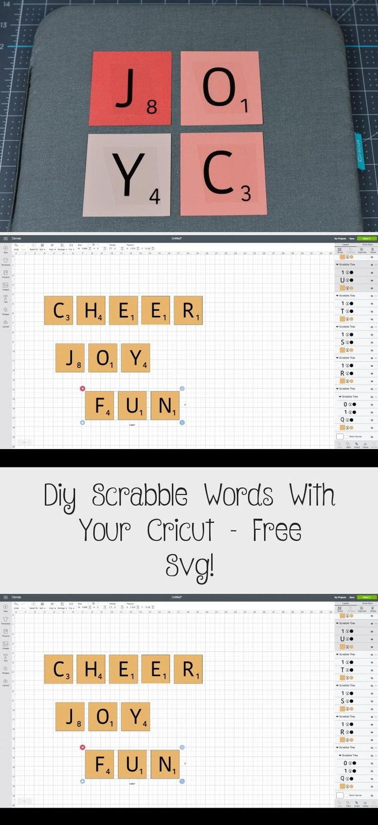 Diy Scrabble Words With Your Cricut Free Svg! İdeas in