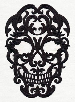 Scrollwork Skull design (UT8275) from UrbanThreads.com