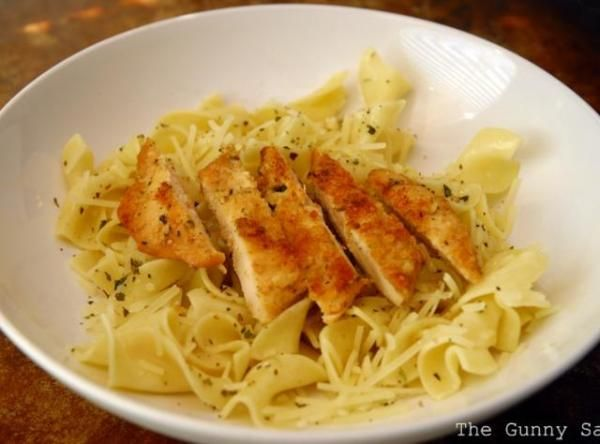 Copycat Noodles & Company Parmesan Chicken and Buttered Noodles Recipe