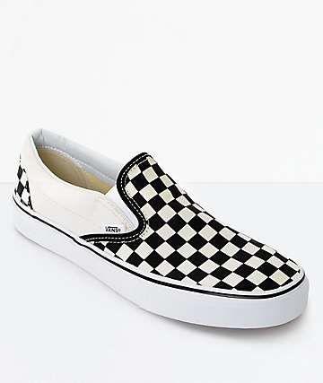 ca677cd6 Vans Slip-On Black & White Checkered Skate Shoes in 2019 | fits ...