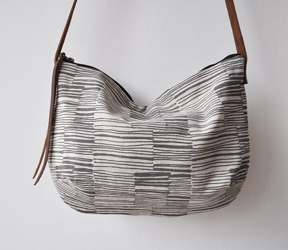 DAY BAG  lines by bookhouathome on Etsy