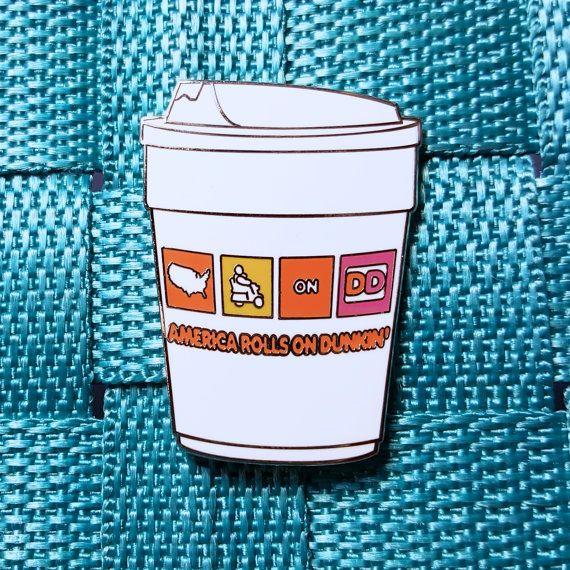 Dunkin Donuts America Rolls on Dunkin / Lapel Pin / Hat