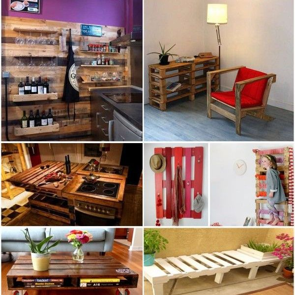 59 best decorar tiendas con palets images on pinterest for Mueble realizado con palet de madera