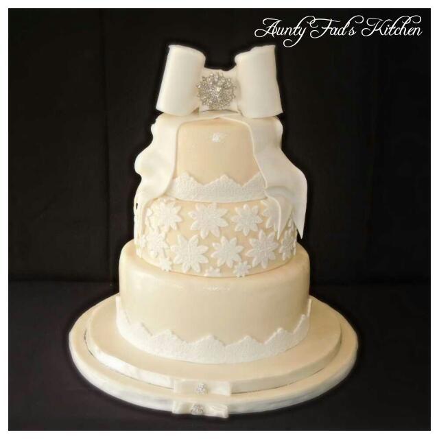 Wedding cake by Aunty Fad's Kitchen