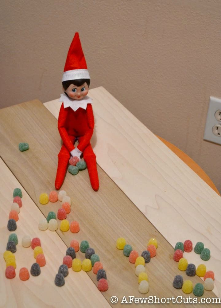 Elf on the Shelf Idea: Candy Messages