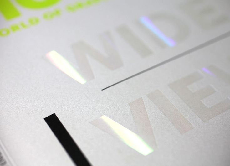Clear holographic foil