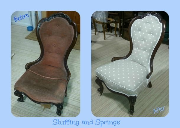 Exceptional Pretty Victorian, Spoon Back Nursing Chair Fully Traditionally  Reupholstered And Covered In A Modern Spotty
