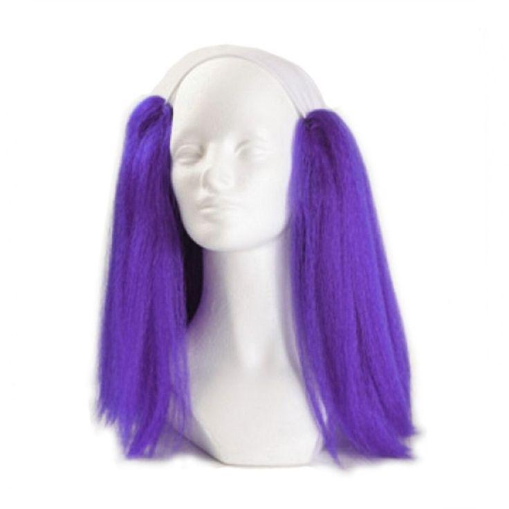 West Bay Bald Straight Clown Wig - Purple