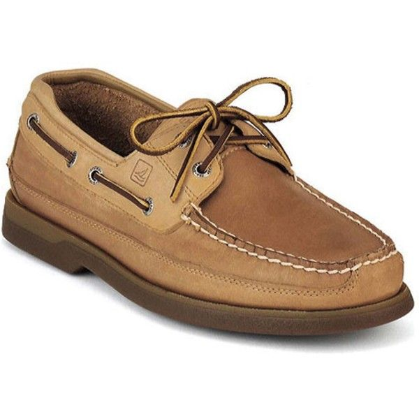 Sperry Top-Sider Men's Mako 2-Eye Canoe Moc ($100) ❤ liked on Polyvore featuring men's fashion, men's shoes, gold, shoes, mens moccasin shoes, mens leather moccasins, mens leather moccasin shoes, sperry mens shoes and mens lace up shoes