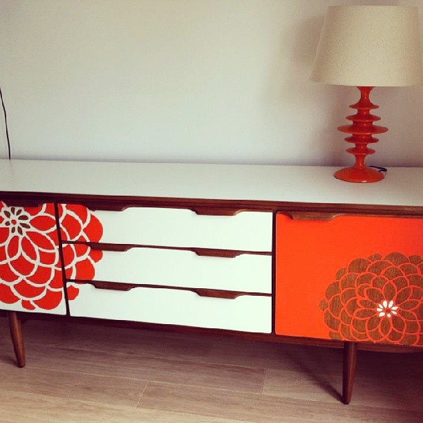 A wonderful #upcycled #sideboard House ideas Pinterest Retro sideboard, Style and Stencils