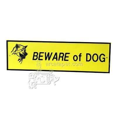 Doggie Dooley Ryter Beware of Dog Sign Outdoor Yard Plastic Sign 3inX10in Small