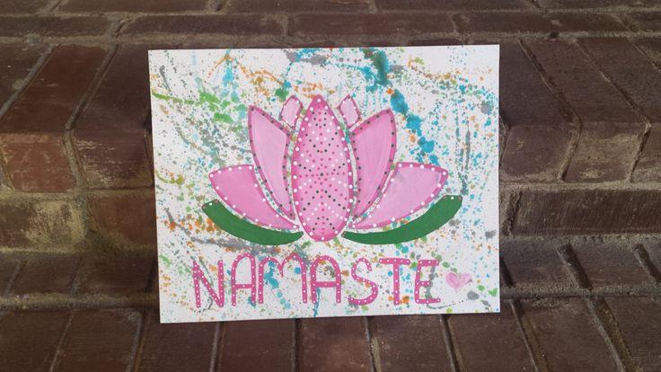 Namaste Lotus Painting, Boho Home Decor, Bohemian decor, Hippie Decor, Yoga decor by IndigoWanderlust on Etsy