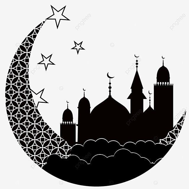 Gambar Siluet Bintang Bulan Islam Bintang Awan Hari Libur Islam Png Dan Vektor Dengan Latar Belakang Transparan Untuk Unduh Gratis Islam Moon Star Silhouette Stars And Moon