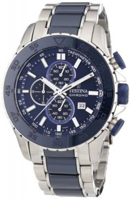 Festina Men's F16628/2 Blue Stainless-Steel Quartz Watch with Blue Dial #Relógio #Festina