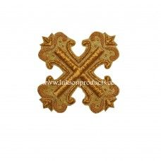 Hand Made Gold Embroidered Cross