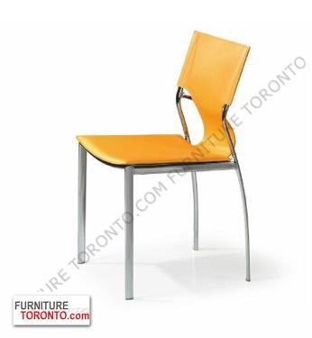 Modern Chrome And Leather Kitchen #Chair Available in Black, Grey, White, Kiwi, Red, Rust, Turquoise, Wenge, Yellow. $159 Furniture Toronto -700 Kipling ave, Etobicoke Ontario