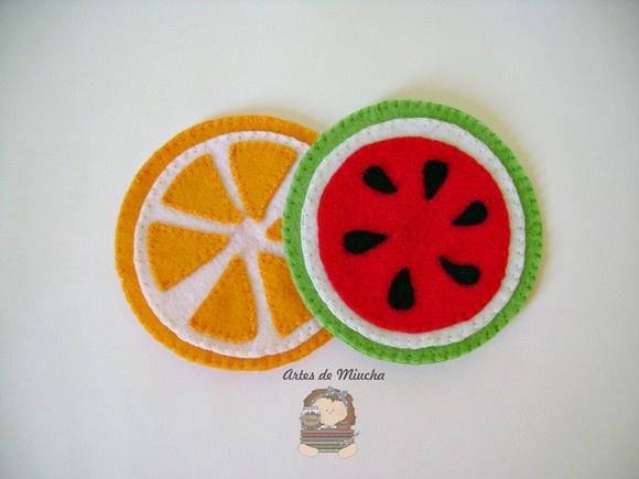 Porta copos - frutas