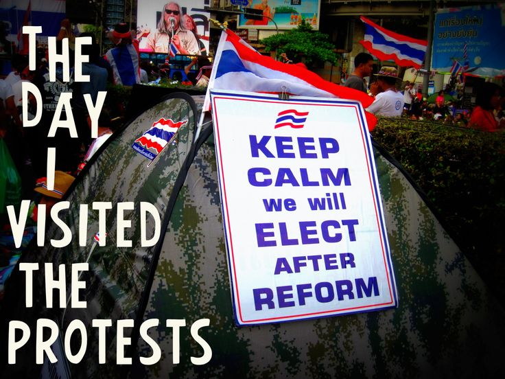 My visit to the Thailand protests... have a cheeky read! http://lucysmilesaway.com/2014/02/19/two-sides-of-the-bangkok-protests/
