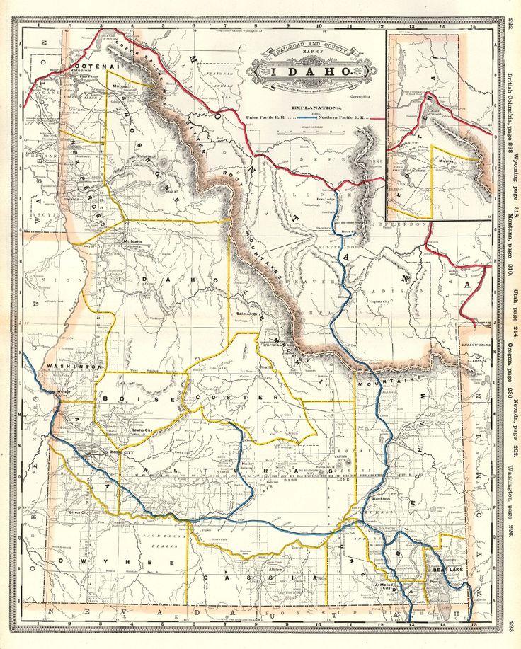 Best Washington Images On Pinterest Globes Oregon And - 1889 us railroad map