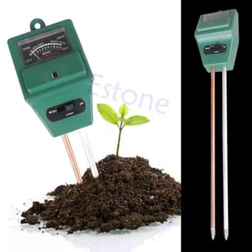 Free Shipping 1PC 3in1 Plant Flowers Soil PH Tester/Moisture/Light Meter -PY-PY
