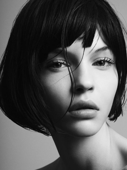 moody black and white portrait