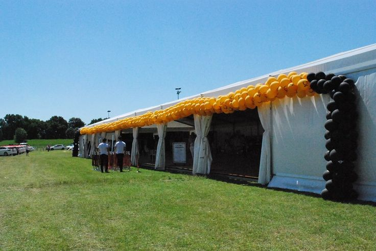 45 meter long balloon arc made by us. www.balomania.eu