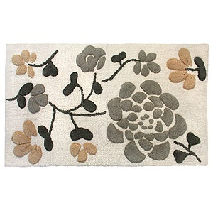 This  Asian-inspired pattern is appealing, especially for a bath mat.