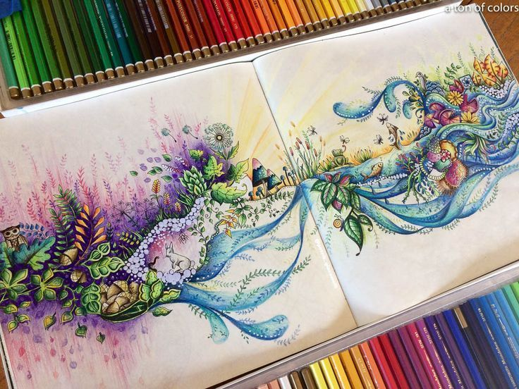 Coloring Book Artist Patrik Kunst Enchanted Forest Coloring