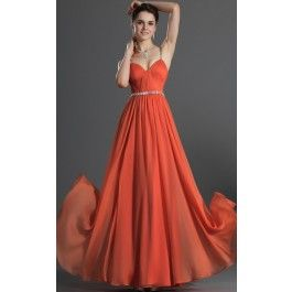 A-line Sweetheart Long Ink Blue Chiffon Evening Dresses(BD486.139)_Change to pearl pink
