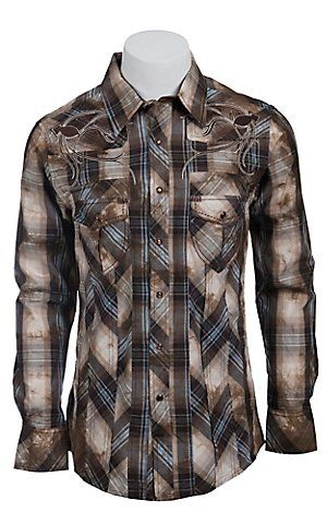 Rock & Roll Cowboy Men's L/S Western Snap Shirt B2S6455   Cavender's