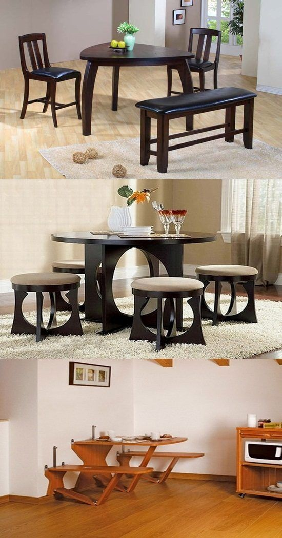 1000 ideas about small dining room furniture on pinterest for Creative dining room table ideas