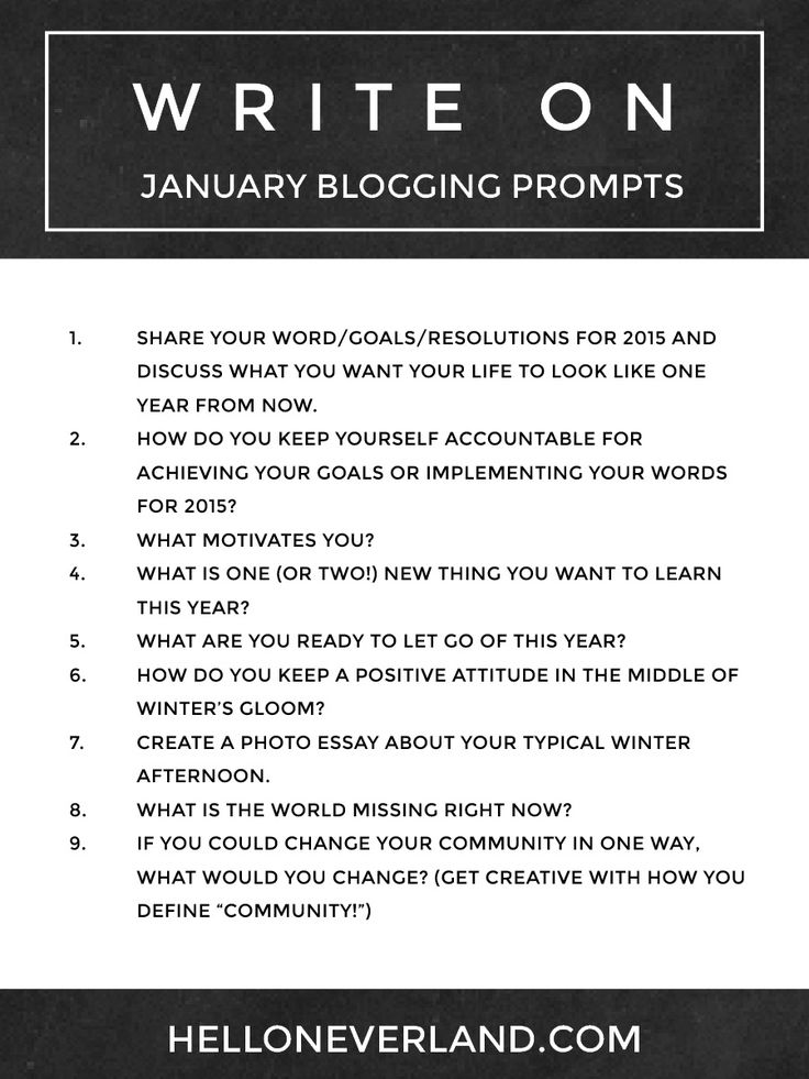 monthly writing prompts Here are 365 creative writing prompts to help inspire you to write every single day use them for journaling, story starters, poetry, and more.