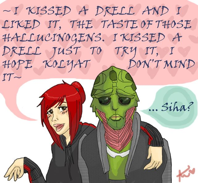 I kissed a drell by Ayame1014.deviantart.com on @DeviantArt