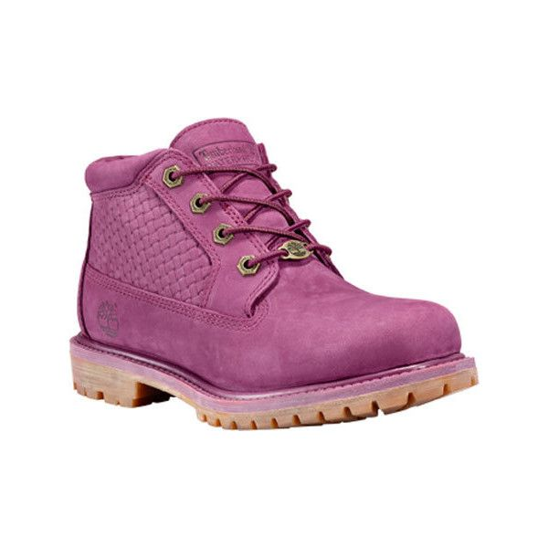 Women's Timberland Nellie Double Waterproof Boot - Magenta Purple... (195 NZD) ❤ liked on Polyvore featuring shoes, boots, purple shoes, water proof shoes, long shoes, timberland boots and purple boots