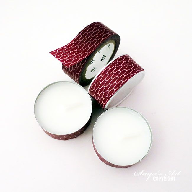 anma.no - Washitape idea - decorate tea lights with Mt Washi tape.