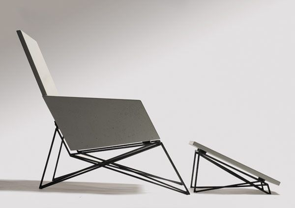 modern furniture made from concrete & steel by hard goods   would look great on the back porch