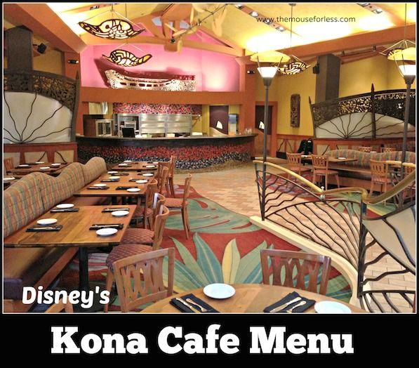Menu For Kona Cafe