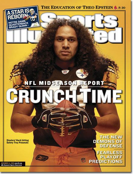 Troy Aumua Polamalu, born Troy Aumua, is an American football strong safety for the Pittsburgh Steelers of the National Football League. He was drafted in the first round of the 2003 NFL Draft by the Steelers. <3