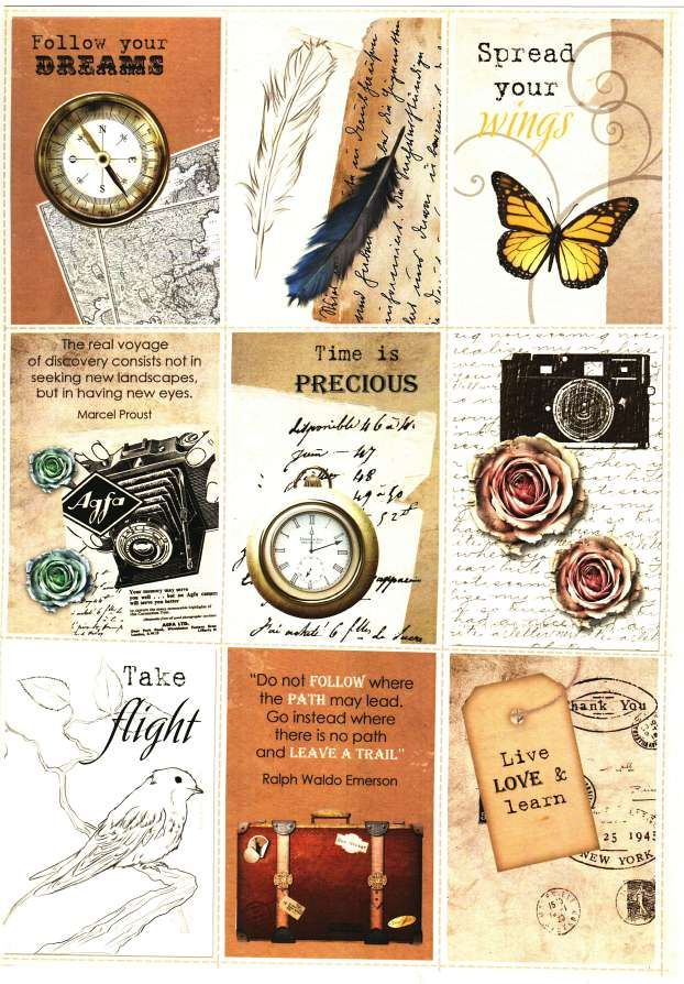 Debbi Moore Designs - Shabby Chic Vintage Discovery card toppers #8 - ephemera
