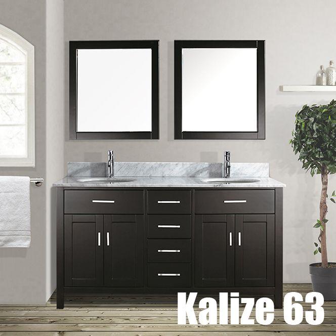 Studio Bathe Kalize Double Vanity with Mirrors