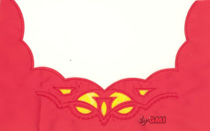 #Reverse appliqué on cotton shirt. GMI creations.