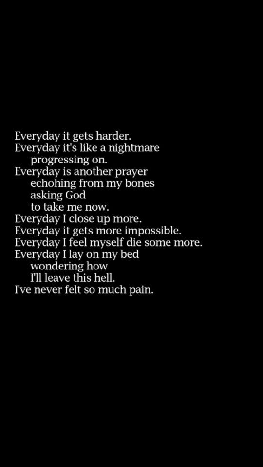 Sad Quotes About Depression: Every Day Of My Life...