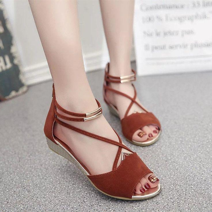 GLTER Femmes Peep Toe Ankle Strap Butterfly Décoré Multi-Color Flat Shoes Large Sandals , white , 39