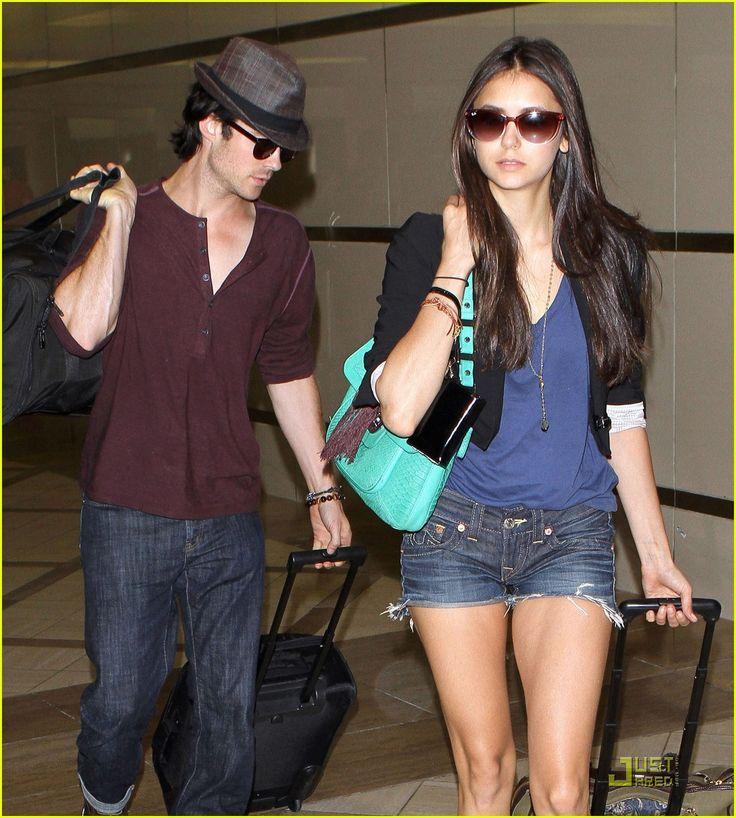 nina dobrev at the airport  | NINA DOBREV & IAN SOMERHALDER @ LAX FLYGPLATS I LOS ANGELES [8 AUGUSTI ...