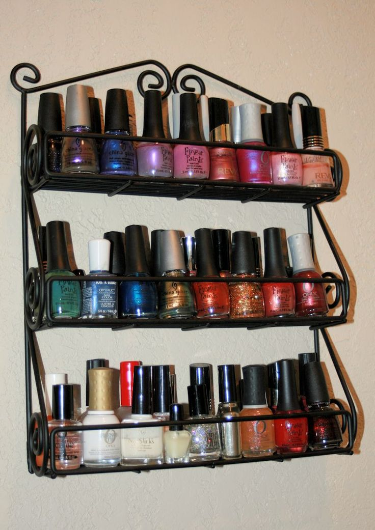 Altered State of Mine - use a spice rack as nail polish storage