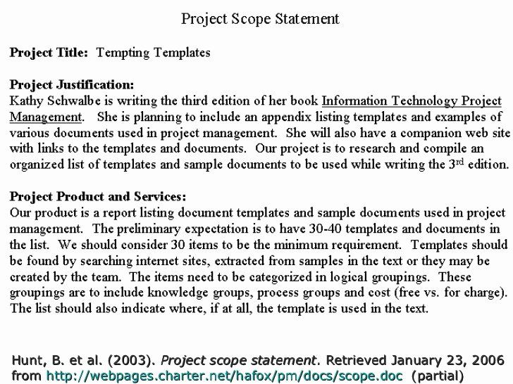 25 Project Scope Statement Example Pdf Business Template Example Business Template Statement Program Management