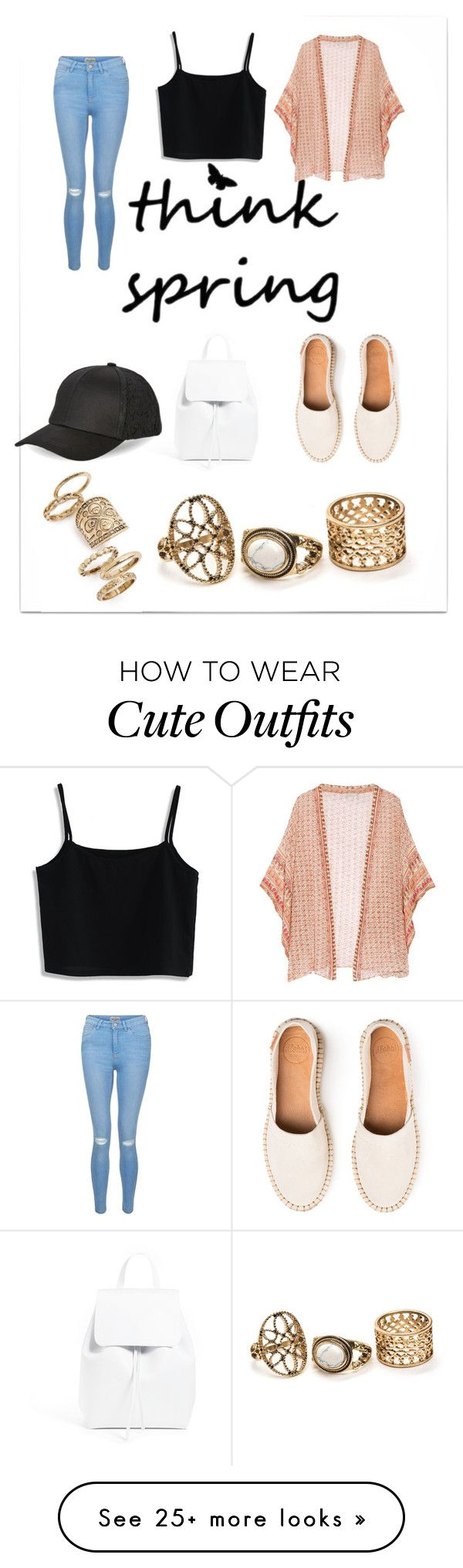 """""""Cardigan outfit"""" by everlyem on Polyvore featuring Mes Demoiselles..., Chicwish, New Look, Mansur Gavriel, BCBGeneration, Topshop, cutecardigan and springlayers"""